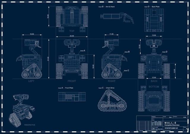 Wall E Blueprint Flickr Photo Sharing