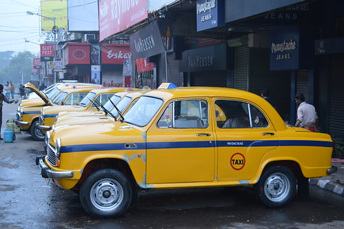 Ambassador taxis in Kolkata, India