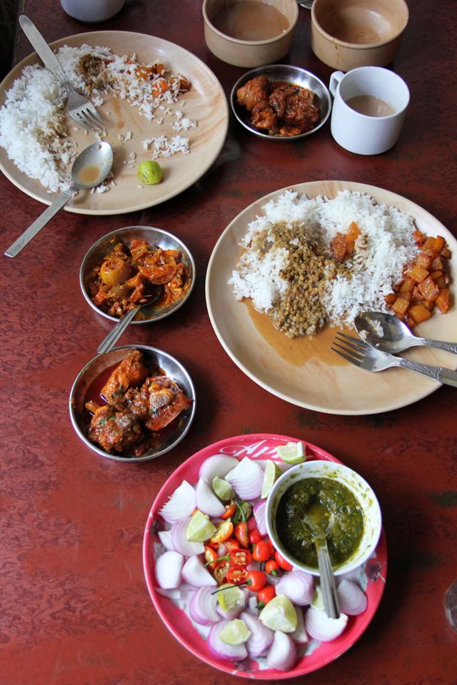 Eating in Darjeeling, India