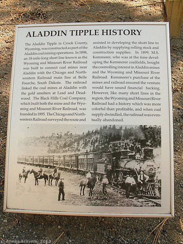 Aladdin Tipple History Sign, Aladdin Tipple Historical Interpretive Park, Wyoming