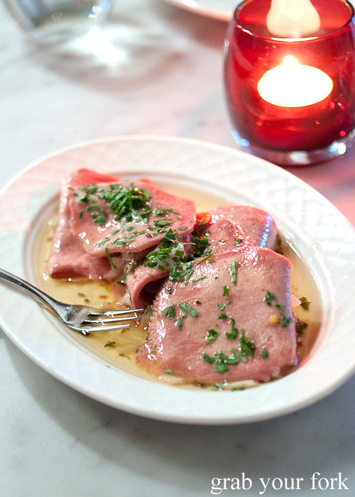pickled veal tongue