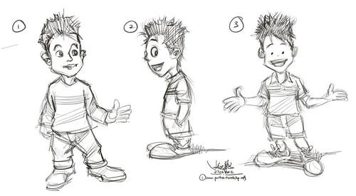 boy mascot skethes - round 1