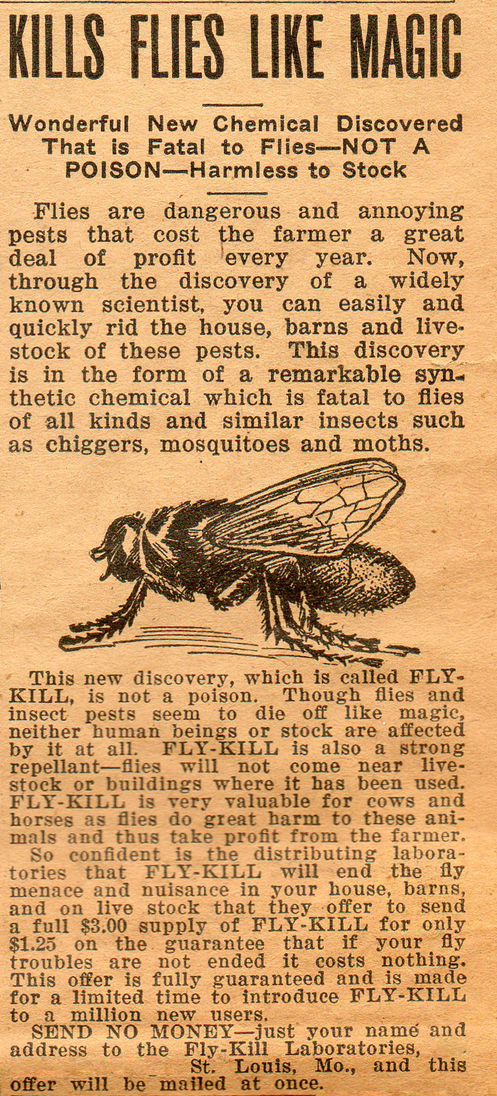 Fly-Kill, Southern Ruralist, July 15, 1923