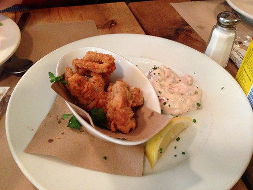 Brooklyn Fish Camp fried oysters and tartar sauce
