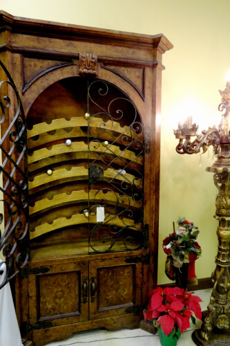 Tuscan Wine Cabinet / Wine-Rack / Armoire Childress Old World Furniture