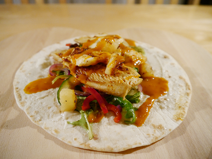 homemade nandos peri peri chicken wrap recipe 3
