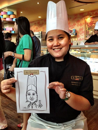 caricature live sketching for Au Chocolat Opening - Day 2 - 7
