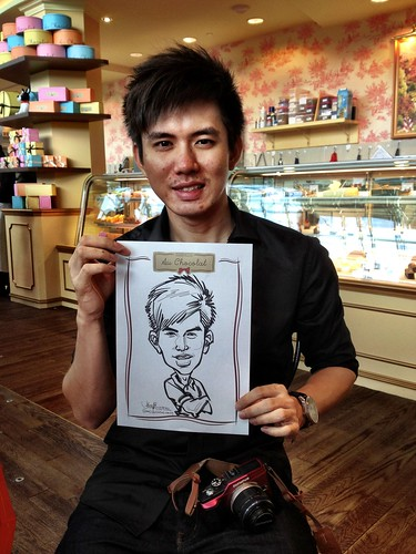 caricature live sketching for Au Chocolat Opening - Day 2 - 13