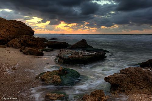 sunset at the Mediterranean sea