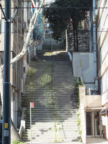 Egy kis lépcsőzés Isztambulban