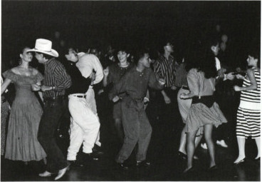 cropped image dancing 1990
