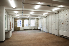 Our shared workspaces - lots of space for creatives to spread out!