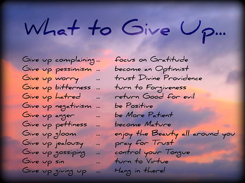 What to Give Up...
