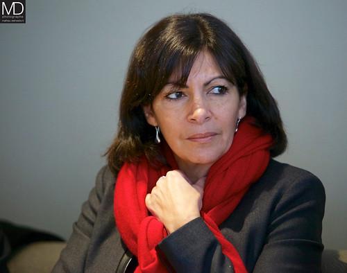 Anne Hidalgo, Daniel Guiraud et des maires du Grand Paris aux Lilas (93), le 11/02/13
