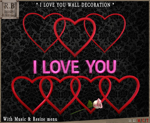 FREE GROUP GIFT - *RnB* I Love You Wall Decoration - Group Gift