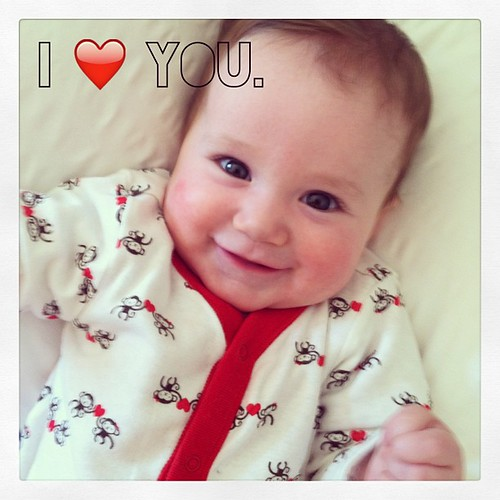 Ellie loves everyone. #valentines #baby #sweetness