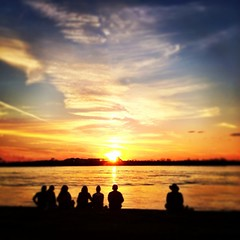 Sunset at The Fly #onlyattulane #onlyinneworleans #tulane