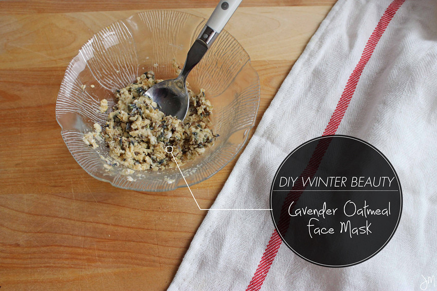 Julip Made DIY Winter Beauty lavender oatmeal face mask3
