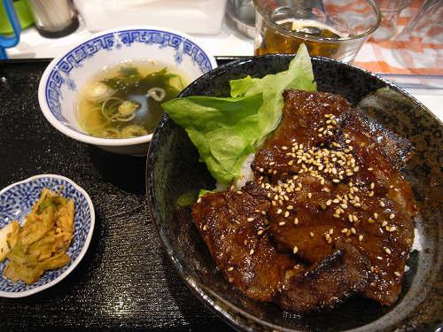カルビ丼ハラミ丼『一(はじめ)』@東向商店街-06