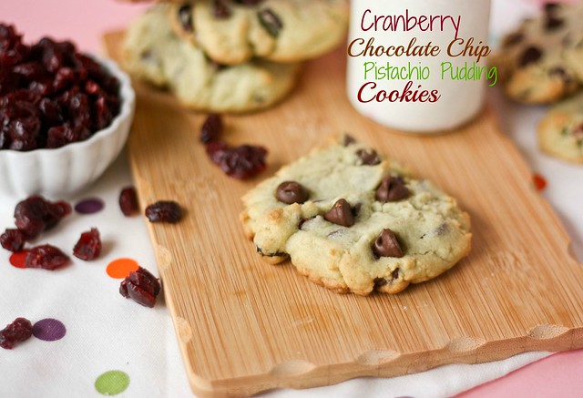 Cranberry Chocolate Chip Pistachio Pudding Cookies – Soft and chewy ...