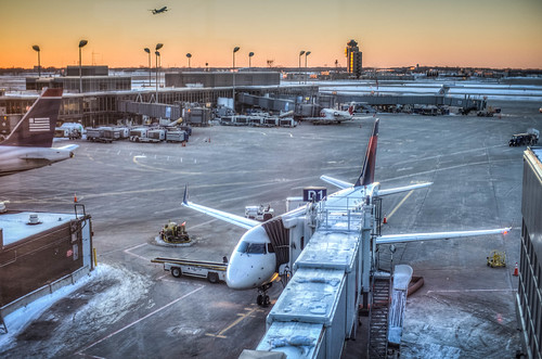HDR: MSP Airport - view from the observation deck