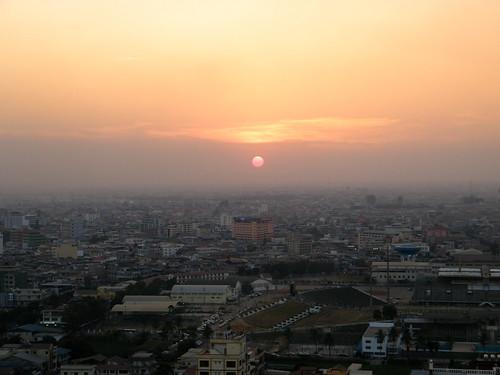 Sunset Phnom Penh Cambodja