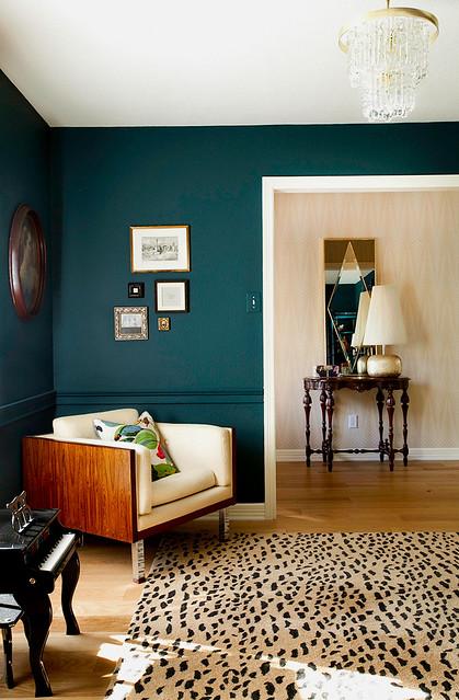 Teal Living Room Walls