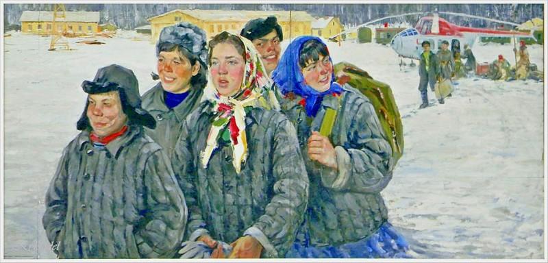 Немцев Виктор Леонтьевич (Россия, 1936) «Чувашская молодёжь на БАМе»