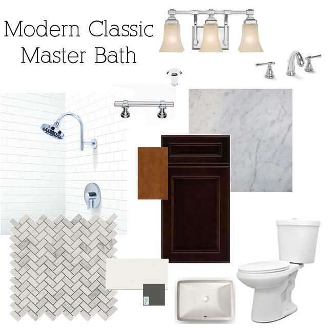 Modern classic bathrooms at the flip it 39 s great to be home for Classic master bathrooms