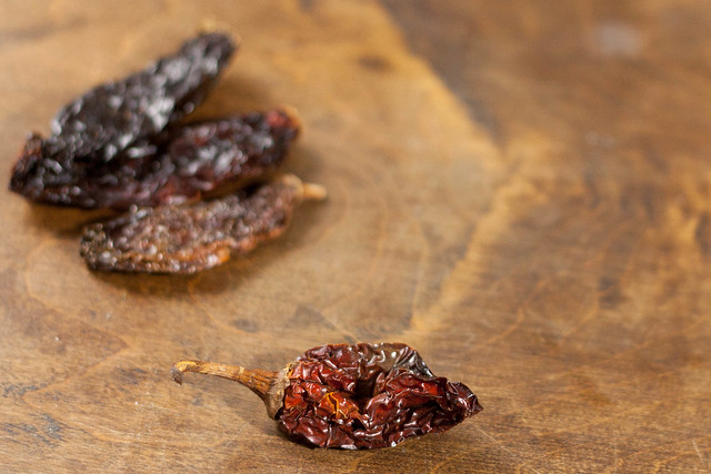 morita peppers, dried hot peppers, smoke dried hot peppers