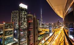 Sheikh Zayed looking towards Downtown Dubai
