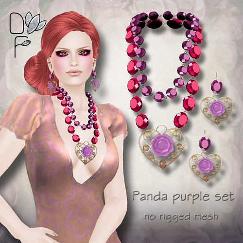 PANDA purple set