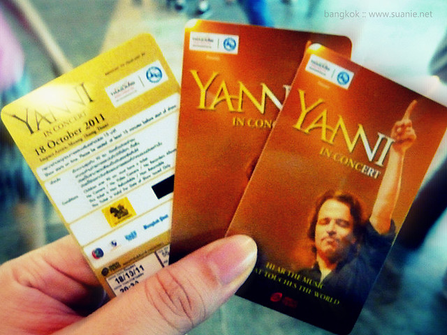 Bangkok Oct 2011 - Yanni tickets