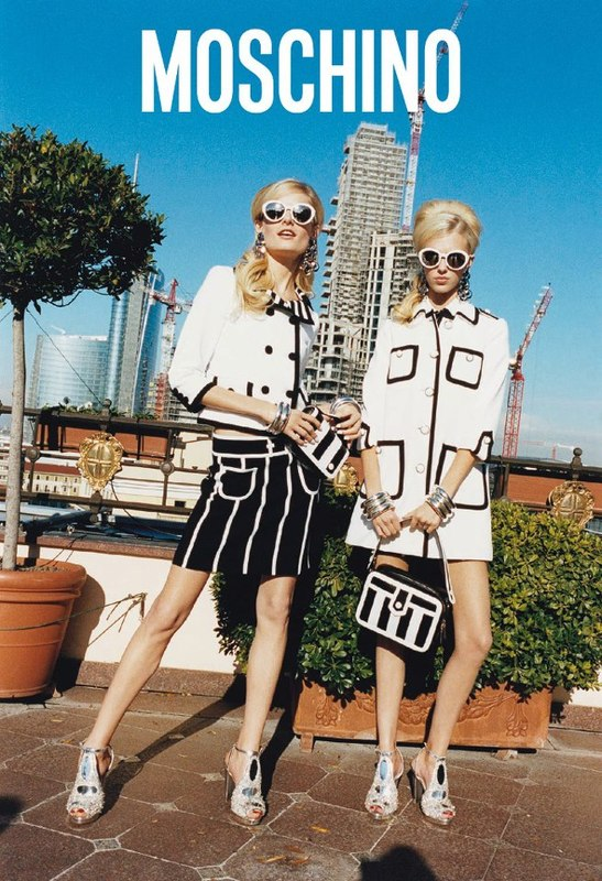 Hanne Gaby Odiele & Juliana Schurig for Moschino SS 2013-000
