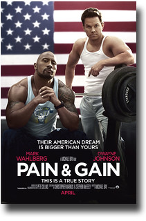 Pain and Gain Poster Movie – Flag Mark Wahlberg Rock Dwayne Johnson