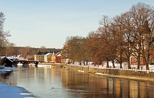 old city bridge blue trees houses winter light wild sky favorite sun house inspiration snow cold color tree slr art water colors beautiful beauty sunshine weather composition digital canon river season landscape photography town frozen photo duck spring scenery warm flickr frost cityscape afternoon seasons view image sweden small scenic picture ducks sunny bluesky best photograph scenary views frame land imagination mallard sverige february dslr midday winterland mallards 2013 550d timlindstedt