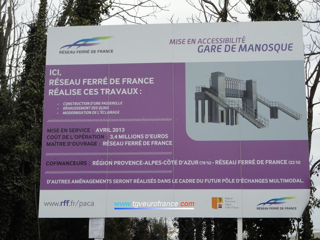 Présentation des travaux d'aménagement de la gare de Manosque en prévision du futur pôle d'échanges multimodal