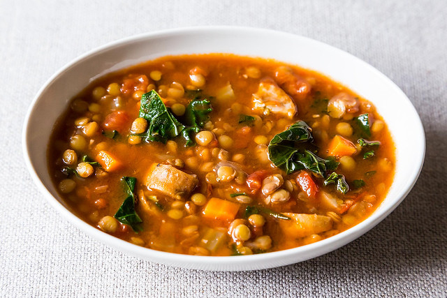 Lentil Soup with Sausage and Kale