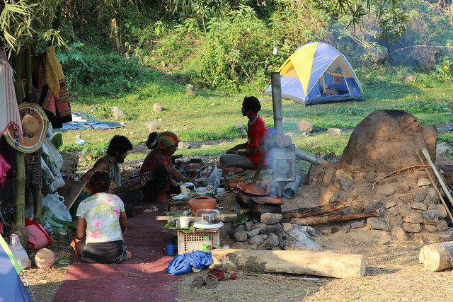 Campers at the Shambhala In Your Heart Festival, Chiang Dao