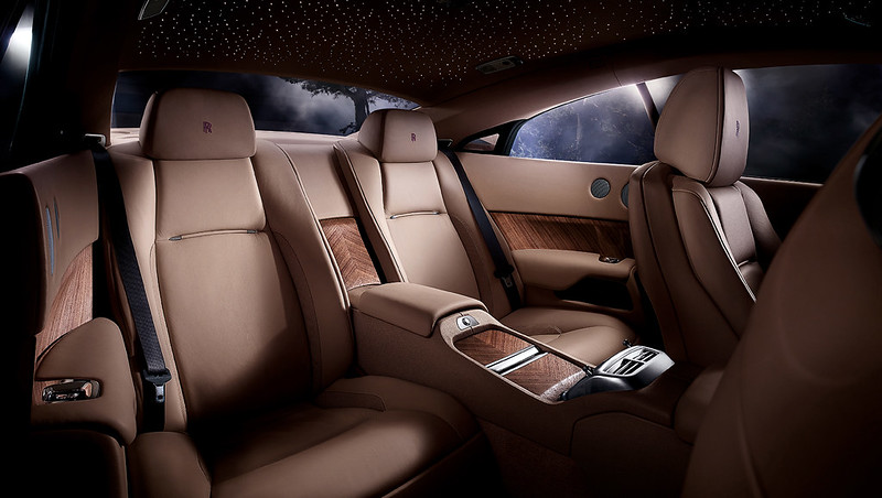 2014 Rolls-Royce Wraith rear interior