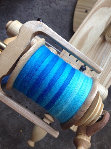 All spun up, ready to ply