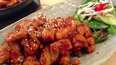 Chilli chicken karaage at Oishii Kitchen in Prahra…