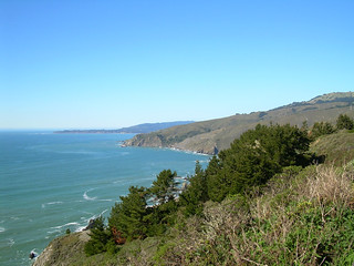 View from Muir Beach Lookout, California, February 2013