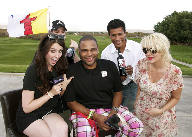 Traci Stumpf, Anthony Anderson, Diem Van Goth, Kathleen Donnelly, 18th Hole, Fortunate Angels, Celebrity Golf Classic