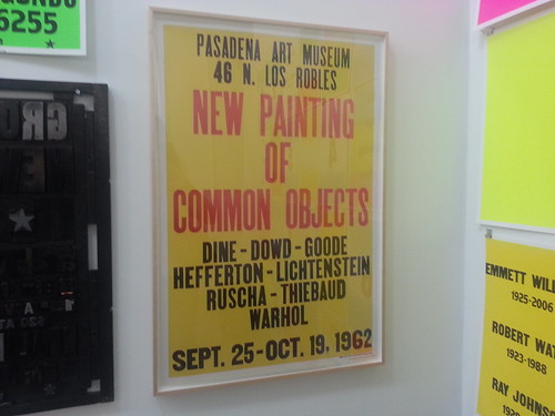 Pasadena Art Museum New Paintings of Common Objects Colby Poster