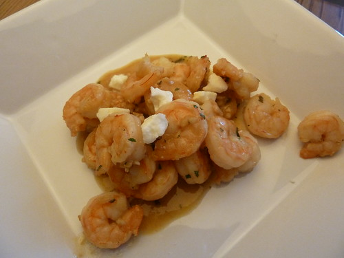 Shrimp in Garlicky Beer Sauce