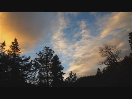 road trip morning sky orange car clouds sunrise landscape video colorado silhouettes windshield tones videoclip