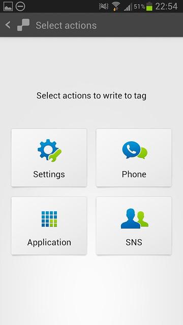 Samsung TecTiles App