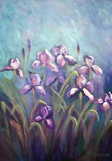 Irises at Dusk, by Cynthia Young