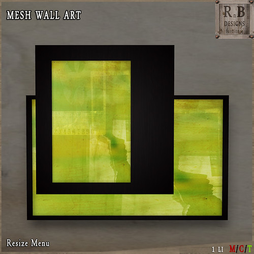 *RnB* Mesh Wall Art - Lime